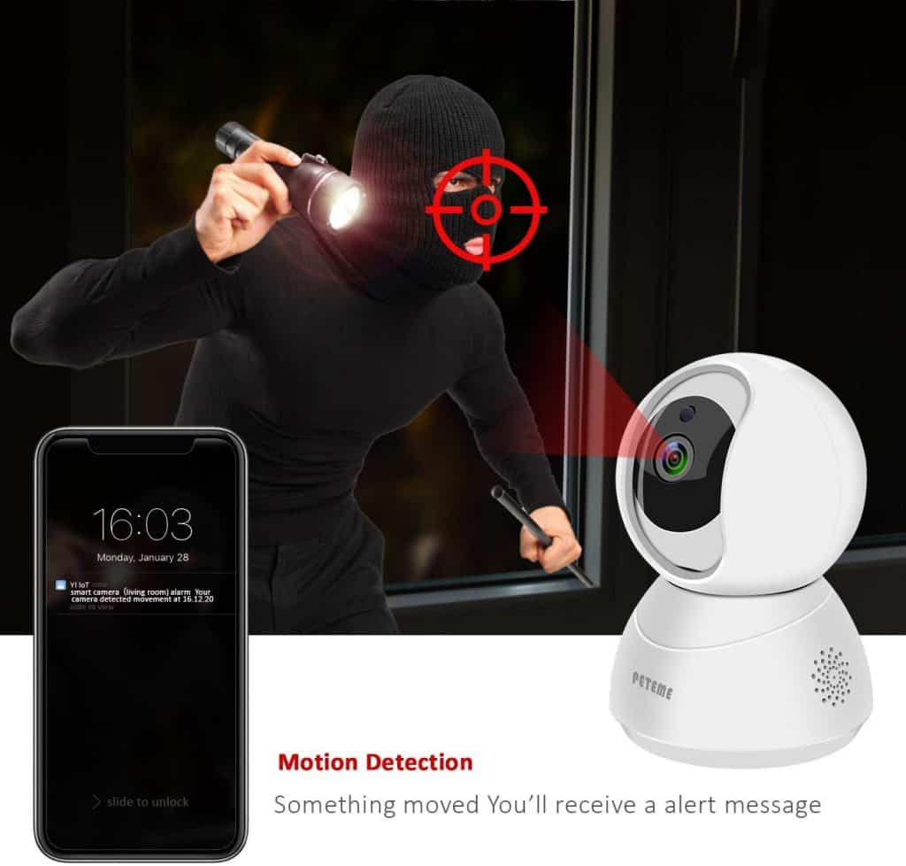 You can use the Peteme video baby monitor as a security device.