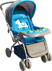 Baby Stroller With Built In Toys.